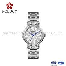 Quartz Mesdames montres en gros bracelet en acier montre petit cadran
