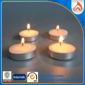 Mini Unscented Tealight Stearinlys med aluminiumburkar