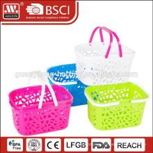 plastic supermarket shopping basket with handle