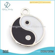 Wholesale enamel Yin Yang alloy charm for bracelet