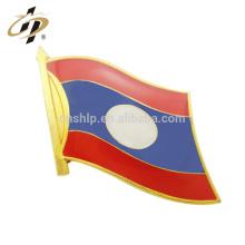 En gros personnalisé émail dur drapeau Laos épinglette en métal partout dans le monde