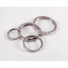 3pcs titanium keychain polishing process personal accessory key rings