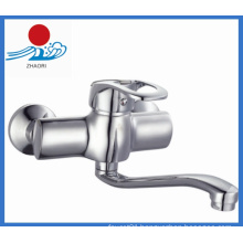 Wall-Mounted Kitchen Mixer Brass Water Faucet (ZR21703)