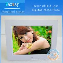 Resolução 4: 3 800x600 slim 8 inch photo frame LCD