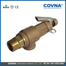 Válvula de seguridad de compresor de aire de latón 3/4 de buena calidad con mango