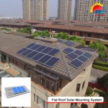 Новый дизайн, легкая установка плоской крыше солнечной дома системы (400-0005)