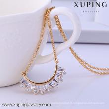 41721-Xuping bijoux à la mode pendentif colliers collier de bijoux de mariage en cristal
