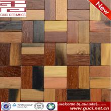 Produto quente do projeto misturou a telha da parede do mosaico do quarto do projeto da madeira contínua