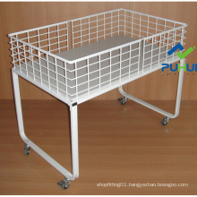 Rollable Metal Wire Dump Rack (PHY508)