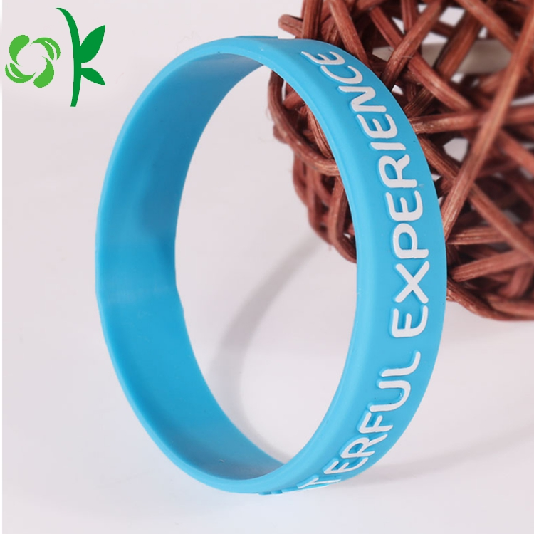 Capital Letter Silicone Bracelet