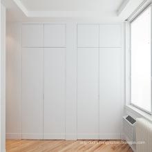 Bedroom wooden door designs interior apartment panel invisible door with hardware