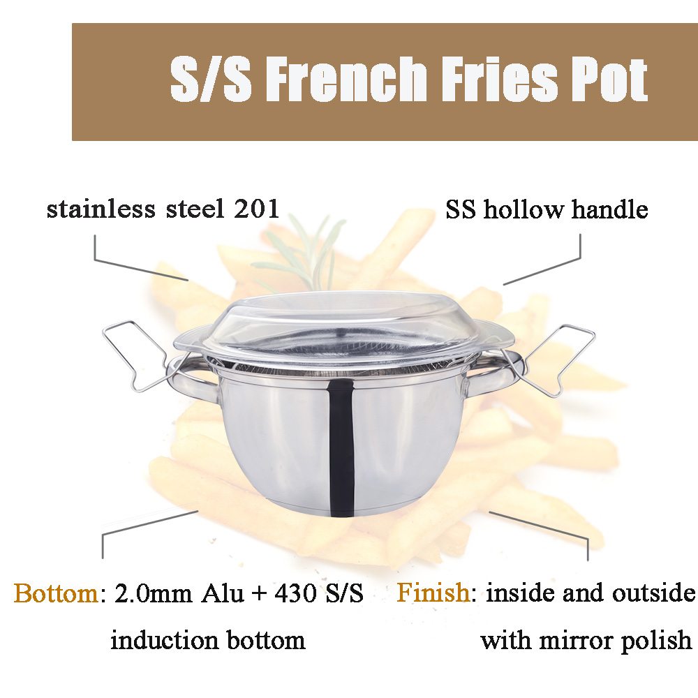 stainless steel fry pot