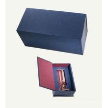 Embalaje de papel de gama alta Cajas de vino con tapa con bisagras