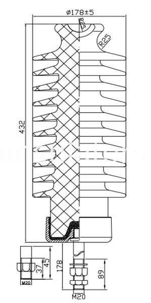 57-4 line post insulators