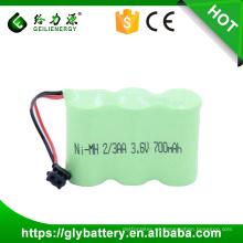 2 / 3AA 3.6V 800mah / 700mah Alta calidad NUEVA NUEVA batería de teléfono para KXA36A KX-A36A