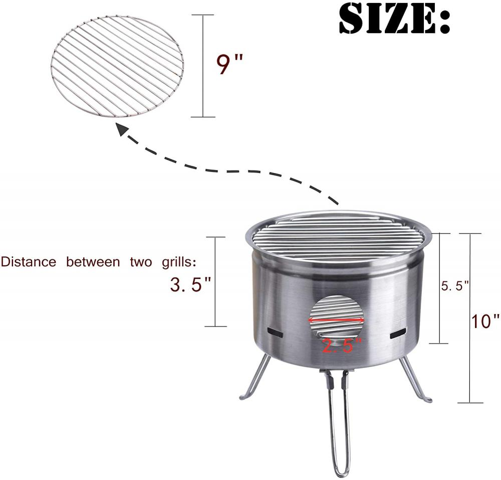 Baking Burner Stove Size