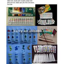 6ml, ensemble de peinture acrylique de tube d'aluminium de 12ml