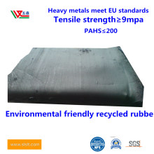 Black Tire Rubber, Environmental Friendly Odorless Rubber, Recycled Rubber, Recycled Rubber