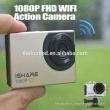 IShare S600W WiFi Acción Deporte Cámara FHD 1080P 30M impermeable Casco De Video Deportivo Cámara Mini cámara digital submarina