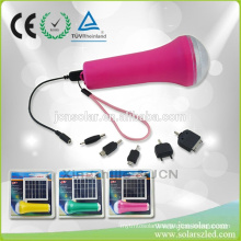 China Competitive Price USB Led Solar Torch with Led Flashlight