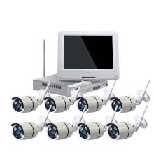 cámara de seguridad 1080p cctv cámara IP cámara lcd monitor WIFI cámara inalámbrica kit