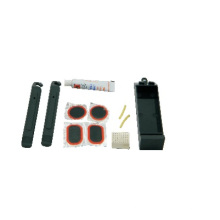 Conjunto de alavanca de pneu com kit de reparo para remendo frio