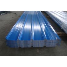 Plaque en tôle d'acier trapézoïdale recouvert de couleur bleu clair