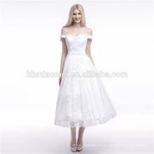 Las mejores ventas de la calidad para el vestido de noche musulmán largo fuera del hombro blanco puro
