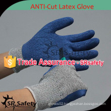 SRSAFETY 13G knitted liner latex coated cut resistance glove