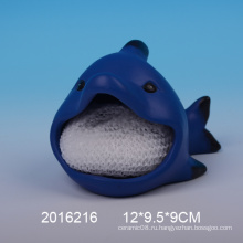 Декоративный держатель для керамической губки с дизайном акулы