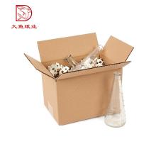 China Custom made fábrica de fábrica grande embalagem de papel caixa de garrafa