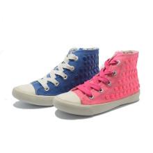 Basia Classical Canvas Various Colors Student Women Rivet High Shoes