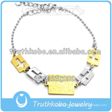 2015 Christ Jewelry Our Saint Jesus Medal Wholesale Cross Boble Bracelet for European