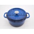 Blue Round Enamel Casserole Classic