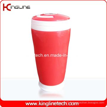 Couvercle en plastique à double couche en plastique de 350 ml (KL-5015)