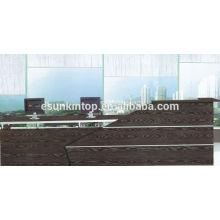 Dark oak wood furniture for reception desk, Office furniture for sale (KM924)