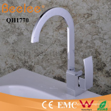 New Oblate Goose Neck Single Handle Number of Handles Goose Neck Brass Chrome Kitchen Water Tap Mixer Faucet