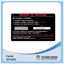 Tarjetas de visita plásticas claras negras impresas del PVC