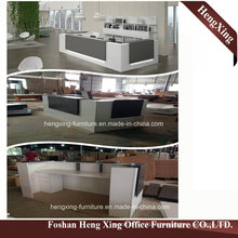 (HX-5N235) White Office Reception Counter Table Wooden MFC Office Furniture
