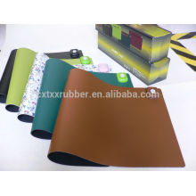 spandex table cover, decorative table mat, fabric on top rubber table mat