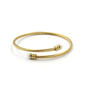 14k Золотые украшения из нержавеющей стали Twist манжета браслеты браслеты