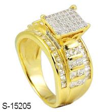 14k золото покрыло ювелирные изделия серебряное кольцо