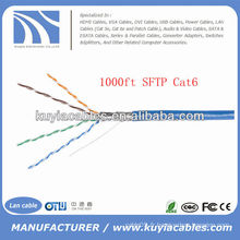 Blue 305m Twister paire 4pairs Cat6 SFTP Cable