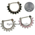 16G Indian Nose Ring Surgical Steel Septum Clicker Body Piercing Jewelry