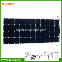 130W Sunpower Monocrystalline Panneau solaire flexible pour voiture