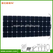 130W Sunpower Monocrystalline Flexible Solar Panel For Car