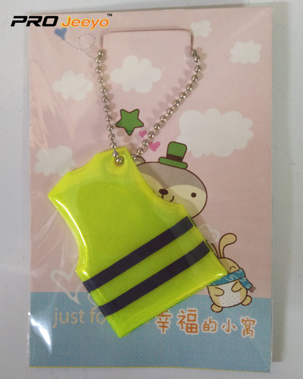 Mobile Phone Reflective Decorative Vest Key Chain RV-102 2