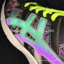 Rainbow reflective shoe upper