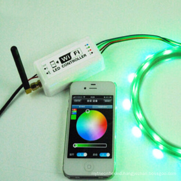 Wifi RGB LED Controller DC12-24V for RGB LED Strip Control by Remote Controller or by Mobile