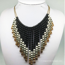 Paiting Colorful Tissue Necklace (XJW13788)